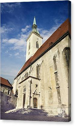 Medieval Temple Canvas Print - Saint Martins Cathedral  by Jelena Jovanovic