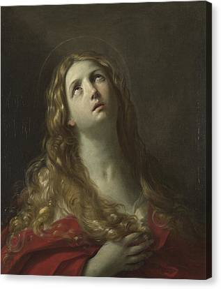 Saint Mary Magdalene Canvas Print by Guido Reni