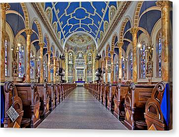 Saint Michael Catholic Church Canvas Print by Susan Candelario