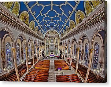 Saint Michael Church Canvas Print by Susan Candelario