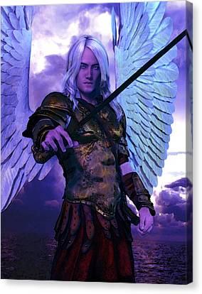 Saint Michael The Archangel/2 Canvas Print by Suzanne Silvir