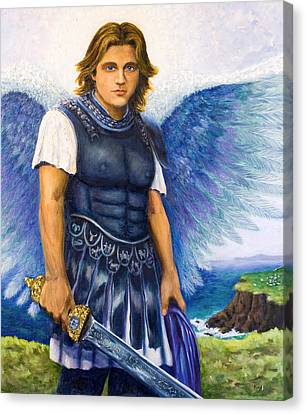 Saint Michael The Archangel Canvas Print by Patty Kay Hall