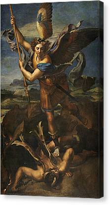 Saint Michael Vanquishing Satan Canvas Print