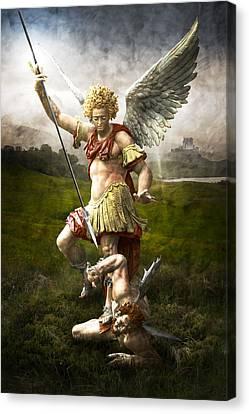 Saint Michael's Triumpf Canvas Print by Marc Huebner