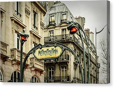 Saint-michel Metro Station Canvas Print by Marco Oliveira