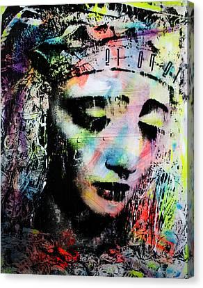 Saint Of Seven Sorrows Canvas Print