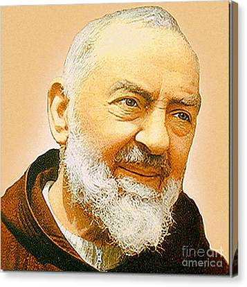 Capuccino Canvas Print - Saint Padre Pio by Archangelus Gallery