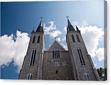 Canvas Print featuring the photograph Saint Paul Cathedral In Midland Ontario by Marek Poplawski