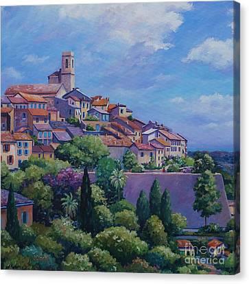 Saint Paul De Vence Square Canvas Print by John Clark