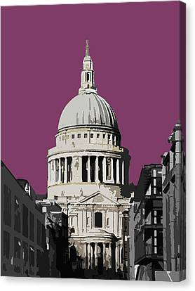 Saint Pauls - Purple Reign Canvas Print by Big Fat Arts