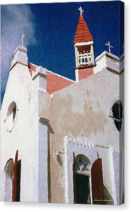 Saint Pauls Conversion Church Saba The Netherlands Antilles Canvas Print