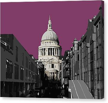 Saint Pauls - Purple Reign Canvas Print by Big Fat Arts