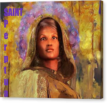 Saint Perpetua/5 Canvas Print by Suzanne Silvir