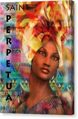 Saint Perpetua Of Carthage Canvas Print by Suzanne Silvir