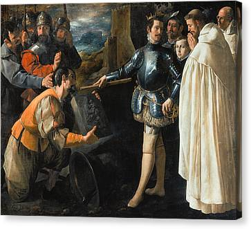 Saint Peter Nolasco Recovering The Image Of The Virgin, 1630 Oil On Canvas Canvas Print