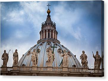 Saint Peter's Roof Canvas Print by Inge Johnsson