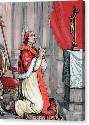 Saint Pius V (1504-1572 Canvas Print by Prisma Archivo