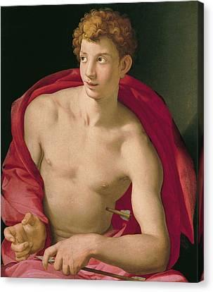 Religious Art Canvas Print - Saint Sebastian by Bronzino