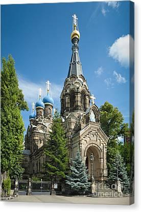 Russian Cross Canvas Print - Saint Simeon Of The Wonderful Mountain by Torsten Becker