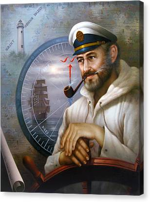 Saint Simons Island Sea Captain 1 Canvas Print