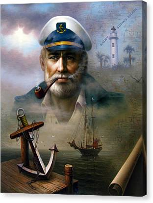 Saint Simons Island Sea Captain 2 Canvas Print