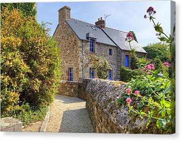 Saint-suliac - Brittany Canvas Print by Joana Kruse
