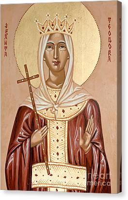 Saint Theodora Of Arta Canvas Print
