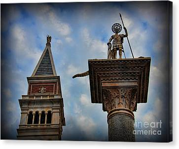 Saint Theodore Standing Guard Canvas Print by Lee Dos Santos