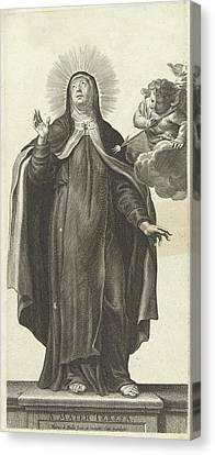 Glowing Canvas Print - Saint Theresa Of Avila And Angel With Glowing Arrow by Pieter De Bailliu (i)