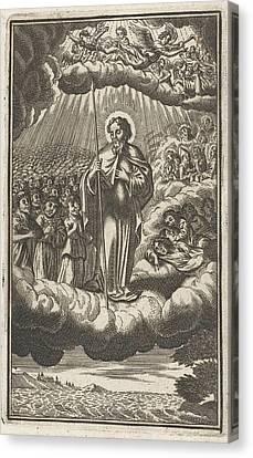 Saint Thomas In Heaven, Anonymous, Samuel Van Hoogstraten Canvas Print by Samuel Van Hoogstraten And Philip Verbeek