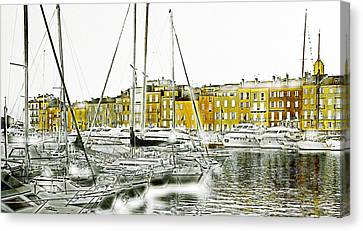 Warm Canvas Print - Saint Tropez by Frank Tschakert