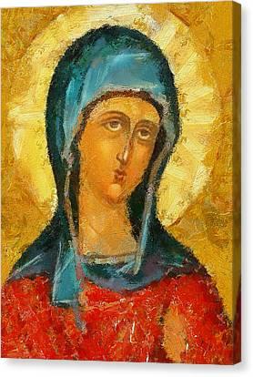 Saint Valentina Icon Canvas Print