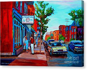 St.viateur Bagel Canvas Print - Saint Viateur Bagel Shop by Carole Spandau