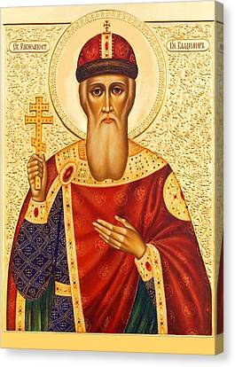 Russian Icon Canvas Print - Saint Vladimir by Munir Alawi