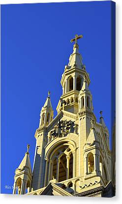 Canvas Print featuring the photograph Saints Peter And Paul Church San Francisco by Alex King
