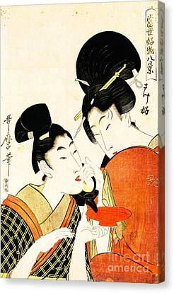 Pouring Wine Canvas Print - Sake Cup 1801 by Padre Art