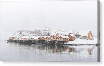 White Out Sakrisoy  Canvas Print by Janet Burdon