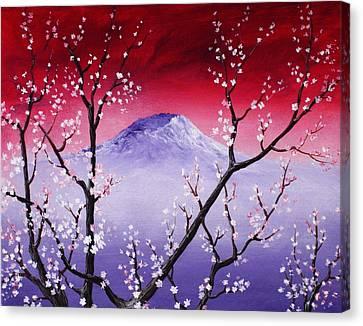 No Love Canvas Print - Sakura by Anastasiya Malakhova