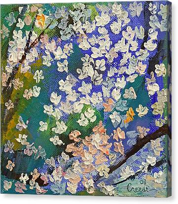 Sakura Oil Painting Canvas Print by Michael Creese