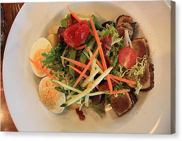Canvas Print featuring the photograph Salade Nicoise by Gerry Bates