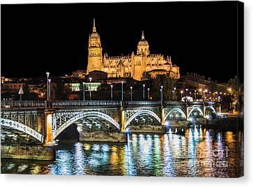 Salamanca At Night Canvas Print