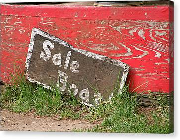 Sale Boat Canvas Print by Art Block Collections