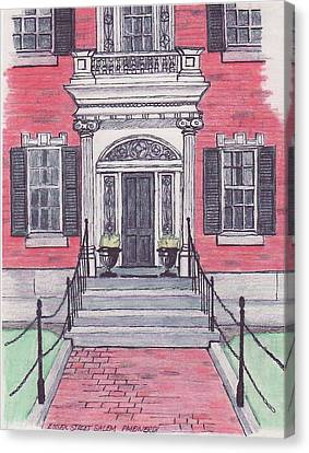 Salem Essex Street Front Door Canvas Print