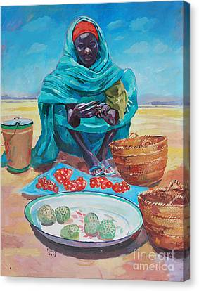 Canvas Print - Saleswoman  2 by Mohamed Fadul