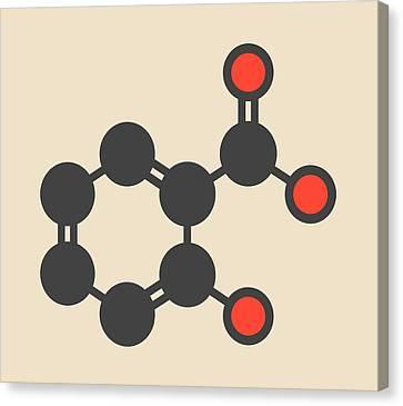 Salicylic Acid Molecule Canvas Print by Molekuul