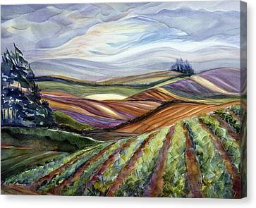 Stormy Skies Canvas Print - Salinas Tapestry by Jen Norton