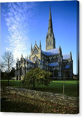 Salisbury Cathedral. 1220-1258. United Canvas Print by Everett