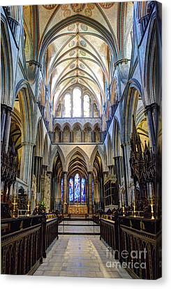 Salisbury Cathedral Canvas Print by Juli Scalzi