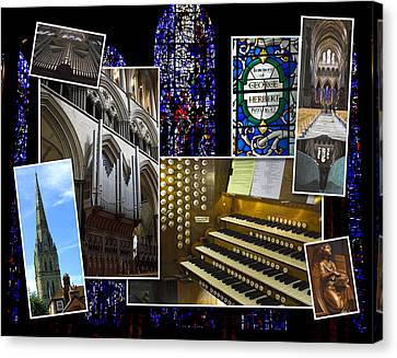 Salisbury Cathedral Montage Canvas Print