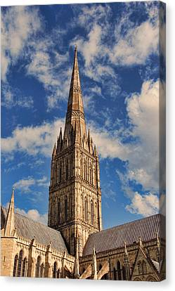 Salisbury Cathedral Canvas Print by Oscar Alvarez Jr